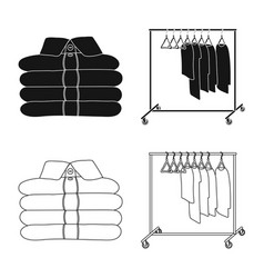 Isolated object of laundry and clean icon vector