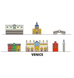 Italy venice flat landmarks vector