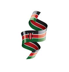 Kenya flag on a white vector