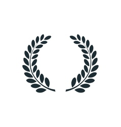 Laurel wreath simple concept logo vector