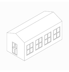 Long building icon isometric 3d style vector image