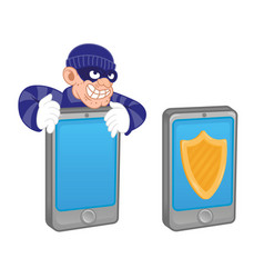 mobile protect vector image