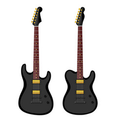 Modern electric guitars vector