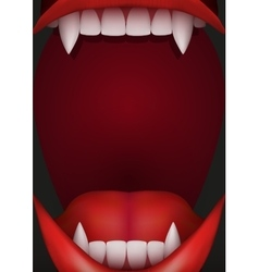 Party Invitation with vampire mouth vector