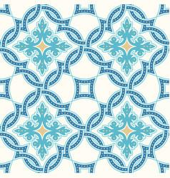portuguese tiles quatrefoil pattern vector image