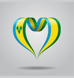 saint vincent and the grenadines flag heart-shaped vector image
