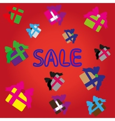 sale bright background vector image