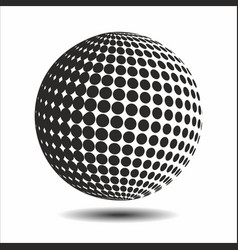 Set abstract halftone 3d spheres 16 vector