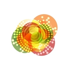 Shiny sparkling graphic design with circles vector