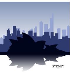 Sidney cityscape vector