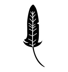 silhouette rustic traditional feather native style vector image