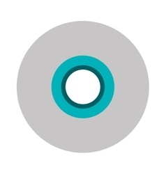 single cd icon vector image
