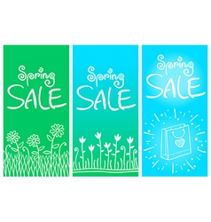 Spring sale banners 001 vector