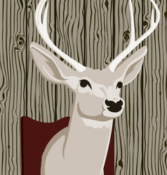 Stuffed deer head vector