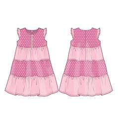 Summer pink dress vector