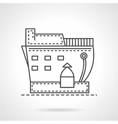 Transport ship line icon vector image