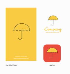 umbrella company logo app icon and splash page vector image