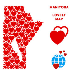 Valentine manitoba province map composition vector