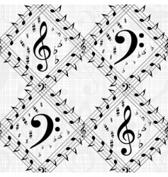 Vector musical pattern vector