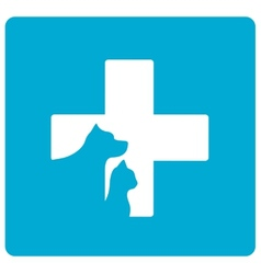 Veterinarian symbol with pet vector