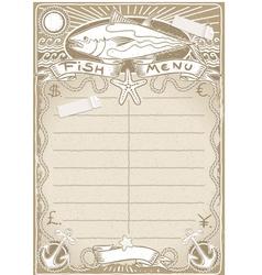 Vintage Graphic Page for Fish Menu vector