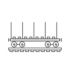 wagon locomotive line icon vector image