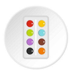Watercolor icon circle vector