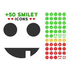 witch smile icon with bonus avatar clipart vector image