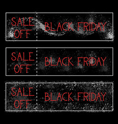 black friday sale off horizontal posters set vector image vector image