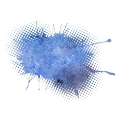 Blue grunge watercolor background vector image vector image