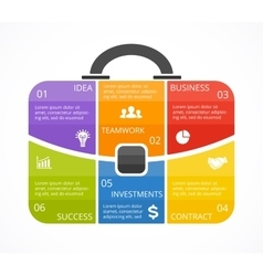 briefcase infographic Template for bag vector image