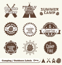 Camping Labels vector image vector image