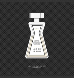 Classic bottle of perfume vector