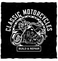 Classic motorcycles poster vector