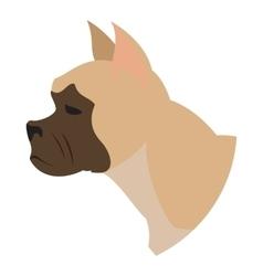 Dog head french bulldog vector image vector image