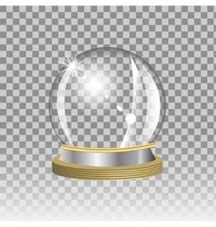 Empty snow globe vector image vector image