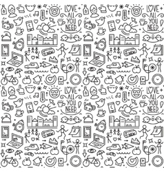 Good morning - seamless background vector