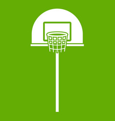 street basketball hoop icon green vector image