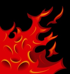 tattoo stylized flame tongues vector image vector image
