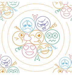 background in the form of an smiles vector image vector image