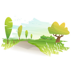 beautiful landscape background vector image vector image