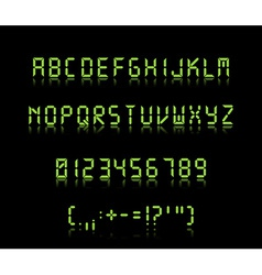 Digi font vector image vector image