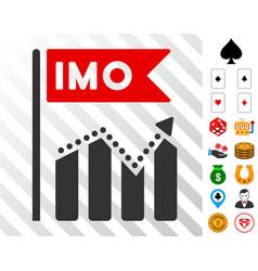 Imo chart trend icon with bonus vector
