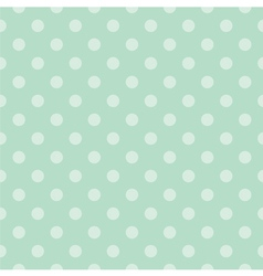 Seamless pattern with light green polka dots vector image