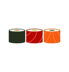 Traditional Japanese food icon flat style vector image vector image