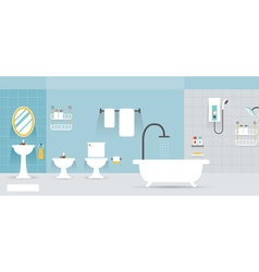 Bathroom Furniture Display Panorama vector image vector image