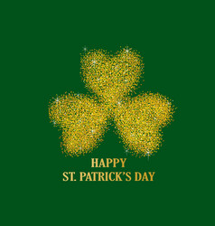 gold dust of three leaved shamrock vector image vector image