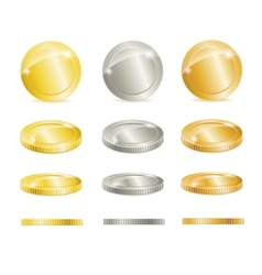 Gold silver and copper coins vector image