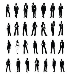 silhouettes vector image vector image