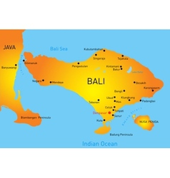 Bali country vector image vector image